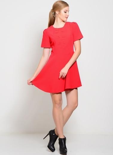 Pepaloves Kısa Kollu Mini Kloş Elbise Kırmızı